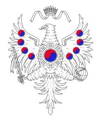 Korean Empire Coat of Arms Lineart by Kittensoft