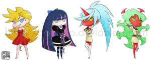 Panty and Stocking stickers by aoineko