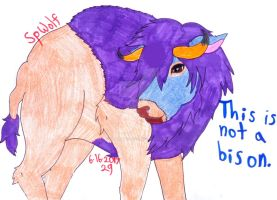Gift Art: The Treachery of Bison by SpellboundFox
