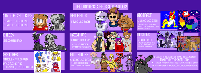 COMMISSION PRICES - OPEN by tomodonnie