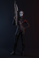 Asari Huntress by hellenys