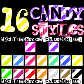 16 Candy Styles For Photoshop by AbouthRandyOrton