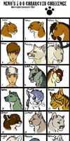 100 Characters by timekept
