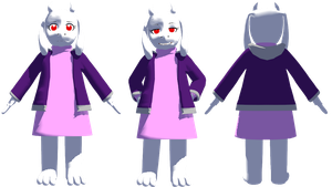 MMD AlterTale Toriel (DL) (Updated) by KittyNekkyo