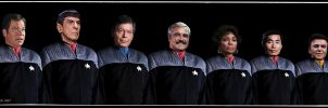 Original Star Trek Crew in DS9 Uniforms Updated by gazomg