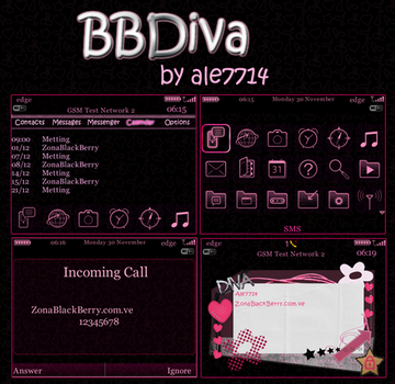 BBDiva Theme for BlackBerry by ale7714