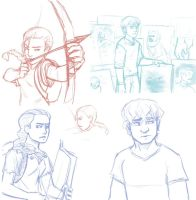 Katniss and Peeta by tigrin