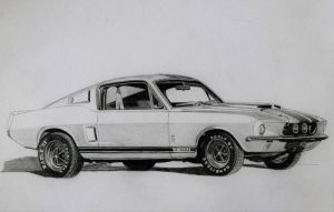 1967 Ford Shelby Mustang GT500 by professorwagstaff