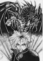 cloud summoning bahamut by darkartistdomain