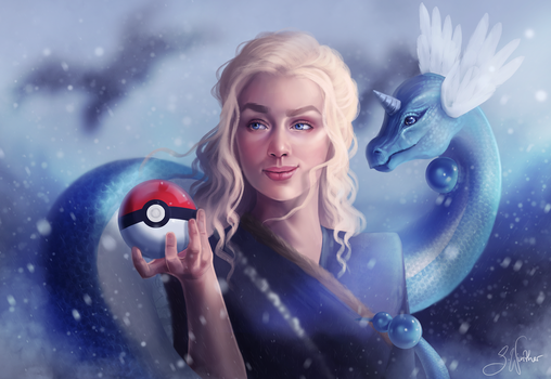 Mother of Dragons - Daenerys and Dragonair by SandraWinther