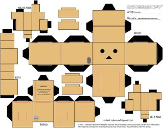 Danbo Cubeecraft Template by Gizzlobber