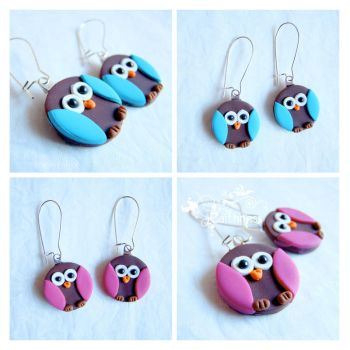 Brown owls earrings by caithness-shop