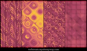 Warm Autumn Retro Patterns 2 by WebTreatsETC