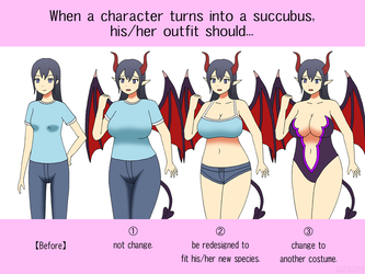 Poll: Outfit Change of Succubus TF by gomyugomyu