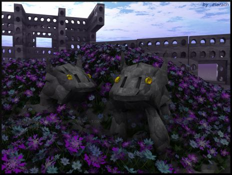 Stonedogs ... in plain sight by Miarath