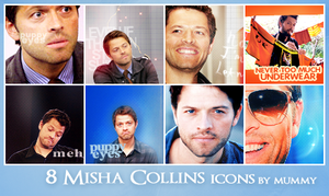 8 Misha Collins icons :2: by mummy16