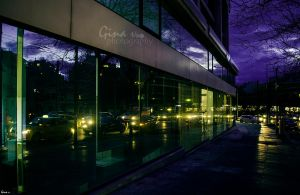 City lights on a busy evening by ginavd