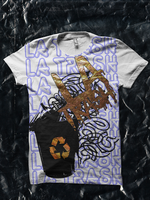 LA Trash Shirt - Gold Recycle by JamesRuthless