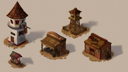 Old West Buildings Concepts by tfantoni