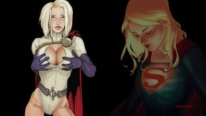 Power Girl vs Supergirl 2 wallpaper by Curtdawg53