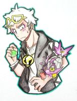 Guzma and Wimpod by FezMangaka
