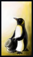 A penguin with a hat by madhatter-penguin