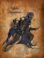 Male Assassin by ravenofsorrows