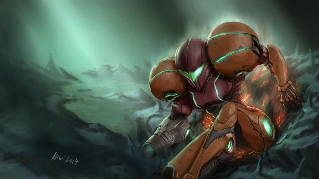 Samus Aran by themimig