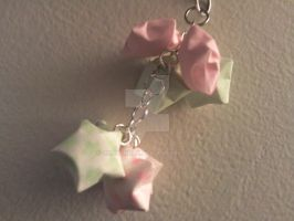 Paper Star Cell Phone Charm by xXbBGurlx
