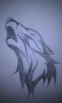 Howler In Pencil by AlphaWolfAl