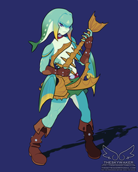 Breath of the Wild style Zora Link (6 1 2017) by theskywaker