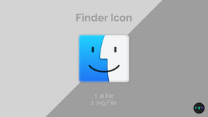 Finder Icon Vector (.ai, .svg) by Tecior