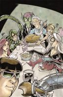 Thanksgiving at the Parkers by Maus and Babinski by billmausart