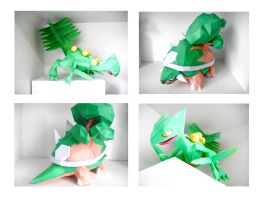 Torterra and Sceptile Papercraft by thepapersmith