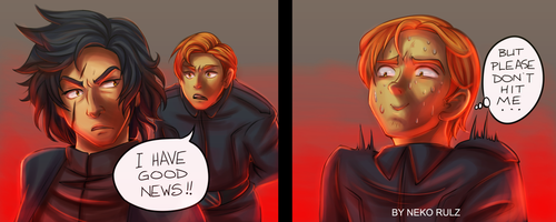 Kylo and Hux by neko-rulz