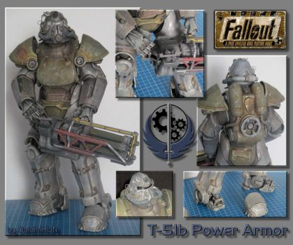 T-51b Power Armor papercraft by DaiShiHUN