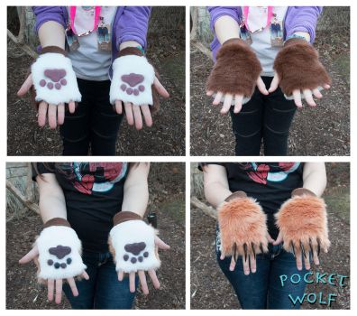Fingerless Gloves by PocketWolfCollection