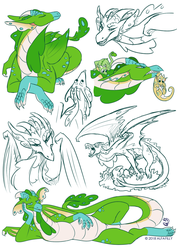 Com: Phyrria Sketchpage by AlfaFilly