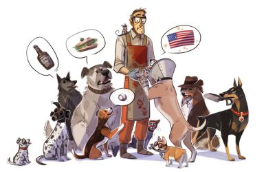 Dog Fortress 2 by Kessavel-art