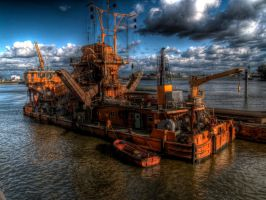 HDR hafen schiff by mtribal
