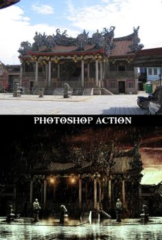 Chinese temple before and after by kueijin