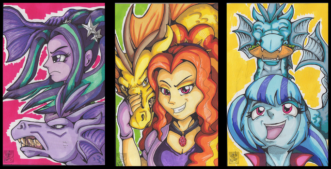 The Dazzlings ACEOs by StormBlaze-Pegasus