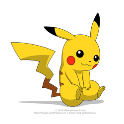 Red's Pikachu by MarwanGreenCritter