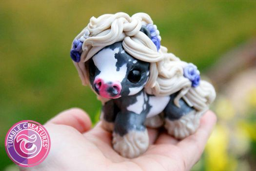 Polymer Clay Gypsy Pony by crystalcookart