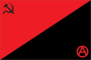 Anarchism Communism Flag by JakRatchet378