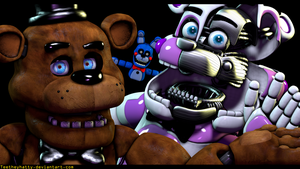 [FnaF-Sfm Poster] ''Clearly best friends'' by Teetheyhatty