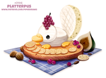 Daily Paint 2106. Platterpus by Cryptid-Creations