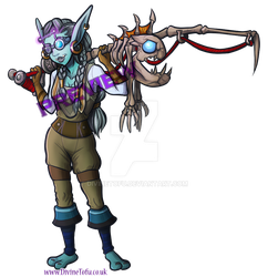 Enarka - WoW Chibi Troll Fisher by DivineTofu
