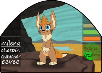 Milena|female|chespin/chimchar/eevee by millemusen