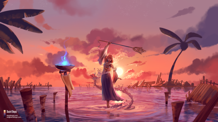 Final Fantasy X - The Dance - Fanart by danielbogni